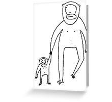 Monkey Dad Greeting Card