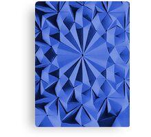 Blue fractals pattern, geometric theme Canvas Print