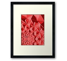 Red fractals pattern, geometric theme Framed Print