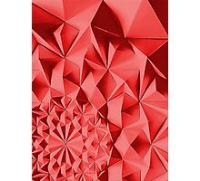 Red fractals pattern, geometric theme Photographic Print