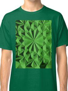 Green fractals pattern, tiled Classic T-Shirt