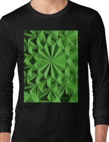 Green fractals pattern, tiled Long Sleeve T-Shirt