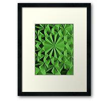 Green fractals pattern, tiled Framed Print