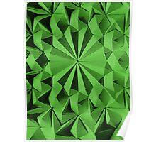 Green fractals pattern, tiled Poster