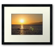 Sunset in Tarifa - Spain Framed Print