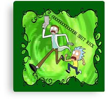Rick and Morty had a little mix-up Canvas Print