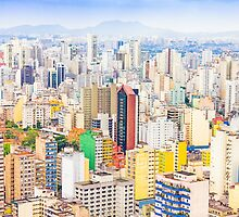 Buildings in Sao Paulo, Brazil by gianliguori