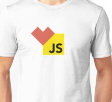 I love Javascript on white Unisex T-Shirt