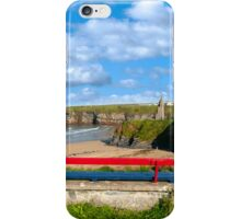 Ballybunion bench beach and castle view iPhone Case/Skin