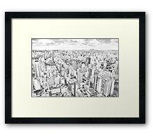View of Sao Paulo, Brazil Framed Print