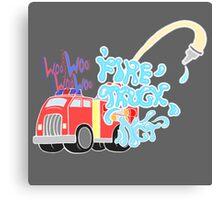 NCT Fire Truck Canvas Print