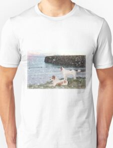 beach view with two dogs T-Shirt
