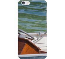 boat on lake iPhone Case/Skin