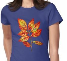 watercolor colourful autumn leaf Womens Fitted T-Shirt