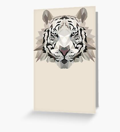 Animal Tiger Low Poly Greeting Card