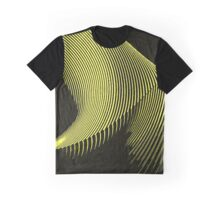 Yellow waves, line art, curves, abstract pattern Graphic T-Shirt
