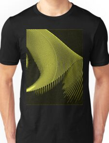 Yellow waves, line art, curves, abstract pattern Unisex T-Shirt