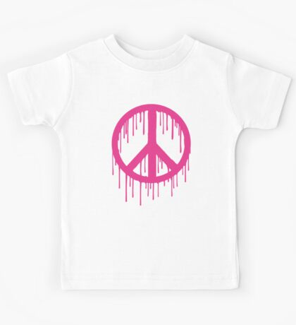 Pink Trendy modern Graffiti style Peace Kids Clothes