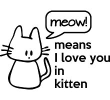 MEOW - means I love you in kitten Photographic Print