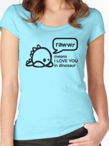 RAWWR - means I love you in dinosaur Women's Fitted Scoop T-Shirt
