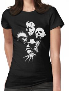 Horror Icons Womens Fitted T-Shirt