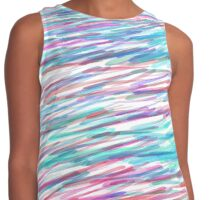 'Colorful Scribbles' Abstract Watercolor Contrast Tank