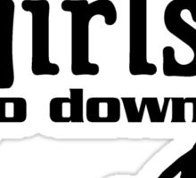 Good girls go down Sticker