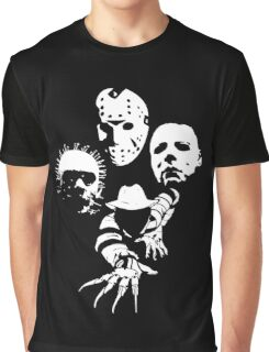 Horror Icons Graphic T-Shirt
