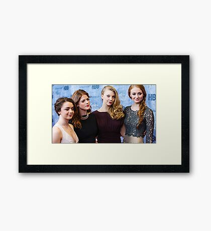 game of thrones girls  Framed Print