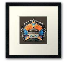Illustration of an American Indian in the wild west Framed Print