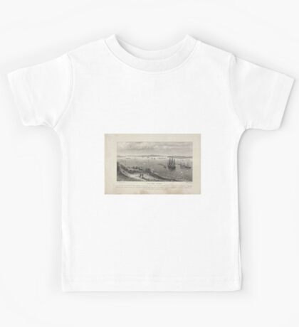 360 New York Harbor as seen from the heights of Staten Island Kids Tee