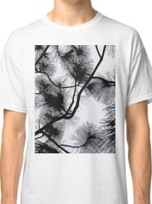 Desert flora, abstract pattern, floral design, black and white Classic T-Shirt
