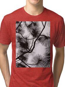 Desert flora, abstract pattern, floral design, black and white Tri-blend T-Shirt