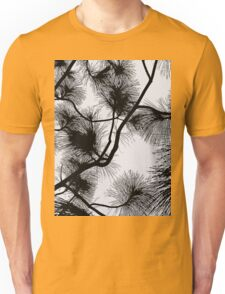 Desert flora, abstract pattern, floral design, black and white Unisex T-Shirt