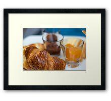 Delicious Croissant/Breakfast Framed Print