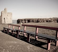 benches and path to Ballybunion beach by morrbyte