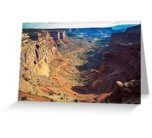 Canyon Country Curves Greeting Card