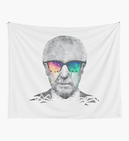 Albert Hofmann - Psychedelic Polygon Crystalised Portrait Wall Tapestry