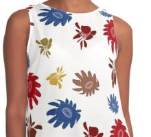 Fall Flowers by Hope - White outline Contrast Tank