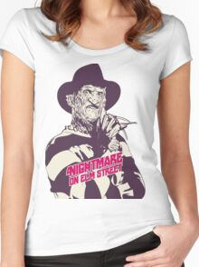 freddy krueger halloween party Women's Fitted Scoop T-Shirt