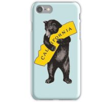 Vintage California Bear Hug Illustration iPhone Case/Skin