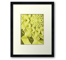 Yellow fractals pattern, geometric abstraction Framed Print