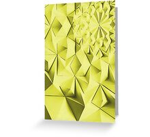 Yellow fractals pattern, geometric abstraction Greeting Card