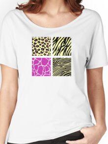 Animal print animal patterns. Original illustration. Women's Relaxed Fit T-Shirt