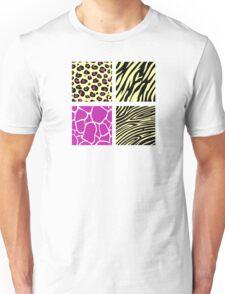 Animal print animal patterns. Original illustration. Unisex T-Shirt