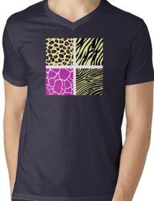 Animal print animal patterns. Original illustration. Mens V-Neck T-Shirt
