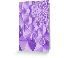Purple fractals pattern, triangles, geometric Greeting Card