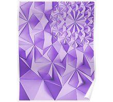 Purple fractals pattern, triangles, geometric Poster