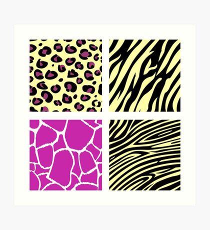 Animal print animal patterns. Original illustration. Art Print