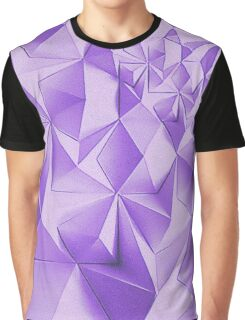 Purple fractals pattern, triangles, geometric Graphic T-Shirt